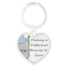 Dialysis 3 Heart Keychain