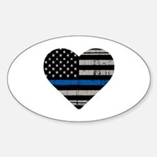 Funny Thin blue line Sticker (Oval)