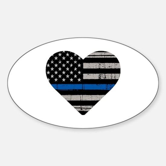 Funny Fallen officers Sticker (Oval)