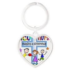 PICU Nurse 1 Heart Keychain