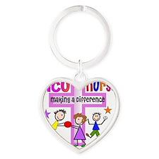 PICU Nurse 2 Heart Keychain