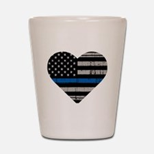 Sheriff thin blue line Shot Glass