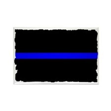 thin blue line rec 333333333 Rectangle Magnet