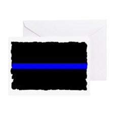 thin blue line rec 333333333 Greeting Card