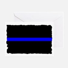 thin blue line rec 333333333 Greeting Card