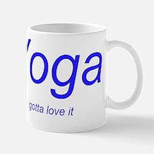 yoga love it blue 1 Mug