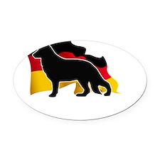 flag3a Oval Car Magnet