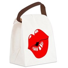 Luscious Lips Canvas Lunch Bag