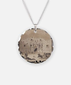 remember_the_alamo_1854_draw Necklace