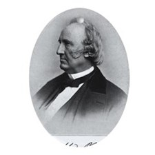 Wendell_Phillips_with_signature Oval Ornament