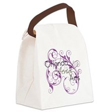 Scroll-Iphone4 Canvas Lunch Bag