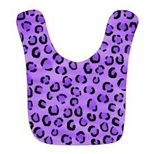 Purple Leopard Print. Bib