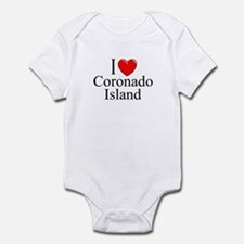 """I Love Coronado Island"" Infant Bodysuit"