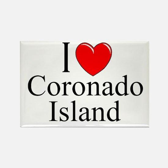 """I Love Coronado Island"" Rectangle Magnet"
