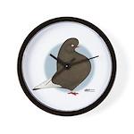 Brown Domestic Flights Wall Clock