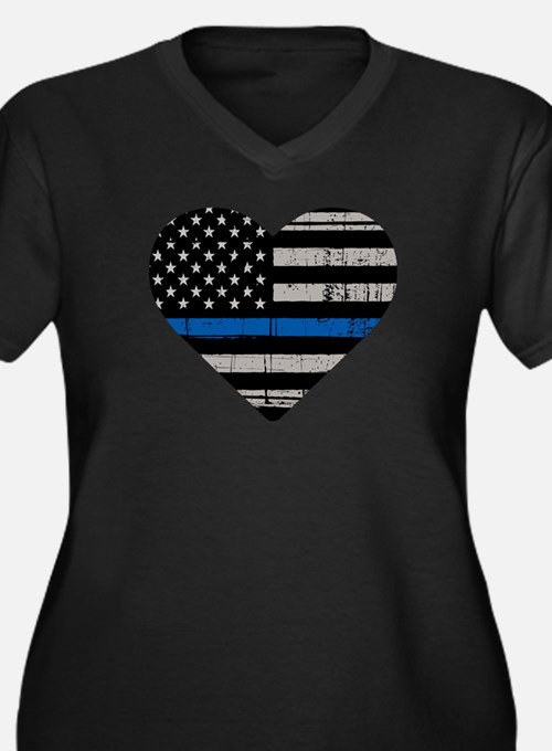 Shop Thin Blue Line Plus Size T-Shirt