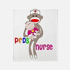 PEDS Nurse Sock Monkey 2011 Throw Blanket