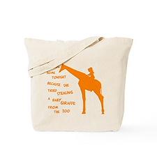 stolengiraffe3B Tote Bag