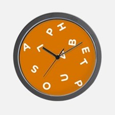Alphabet Soup 1 Wall Clock