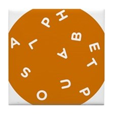 Alphabet Soup 1 Tile Coaster