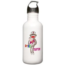 PEDS Nurse Sock Monkey Sports Water Bottle