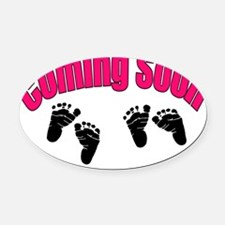coming soon twins Oval Car Magnet