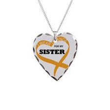 I wear Orange for my SISTER H Necklace