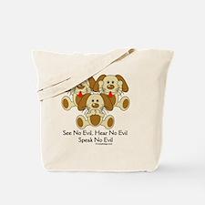 hearnoevilpuppyCIRCLE Tote Bag
