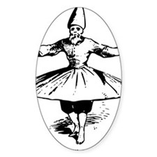 whirling dervish in action Decal