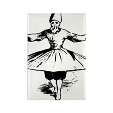 whirling dervish in action Rectangle Magnet