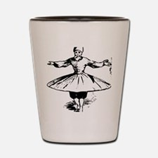 whirling dervish in action Shot Glass