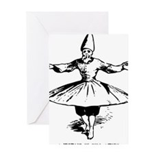 whirling dervish in action Greeting Card