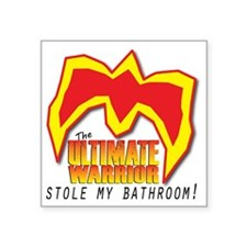 "UWBathroom Square Sticker 3"" x 3"""