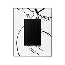 whirling dervish simple lines Picture Frame