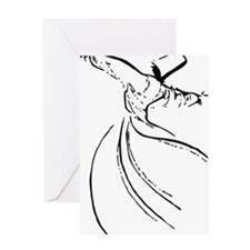 whirling dervish simple lines Greeting Card