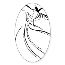 whirling dervish simple lines Decal