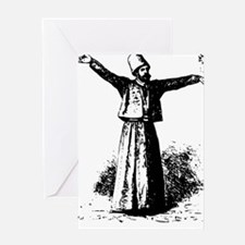 whirling dervish a Greeting Card