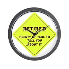 Retired Caution Sign Wall Clock