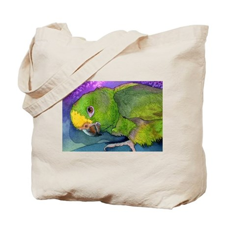 Yellow Headed Amazon Parrot Tote Bag