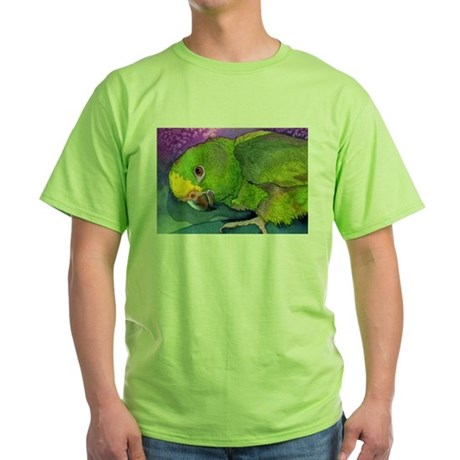 Yellow Headed Amazon Parrot Green T-Shirt