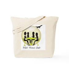 6 9 09 pilot wives new logo Tote Bag