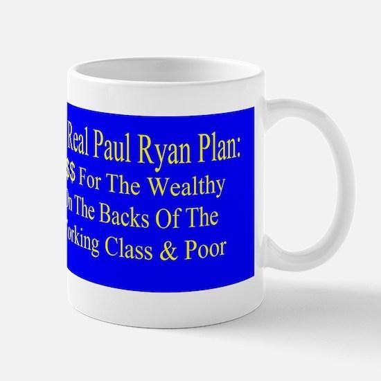 Real Paul Ryan Plan bumper Sticker Mug