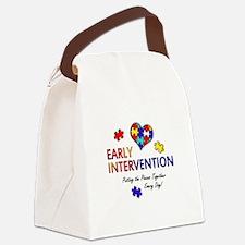 earlyintervention-button Canvas Lunch Bag