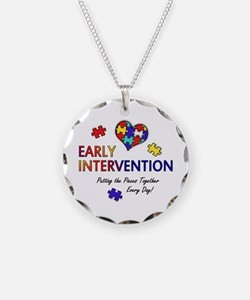 earlyintervention-button Necklace Circle Charm