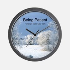 being patient Wall Clock