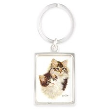 Kittens Portrait Keychain