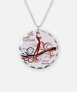 ryerson midwifery reds Necklace Circle Charm