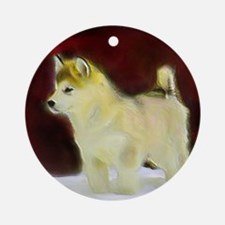alaskan malamute Round Ornament