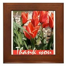 Fire Tulips Framed Tile