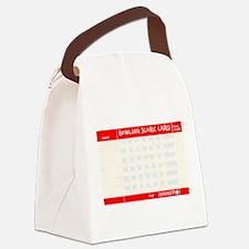 bowl58black Canvas Lunch Bag
